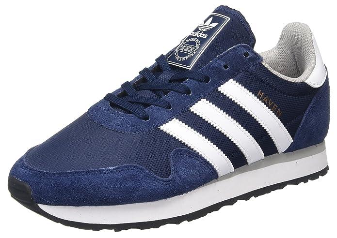 adidas Haven Schuhe Herren blau m. weißen Streifen
