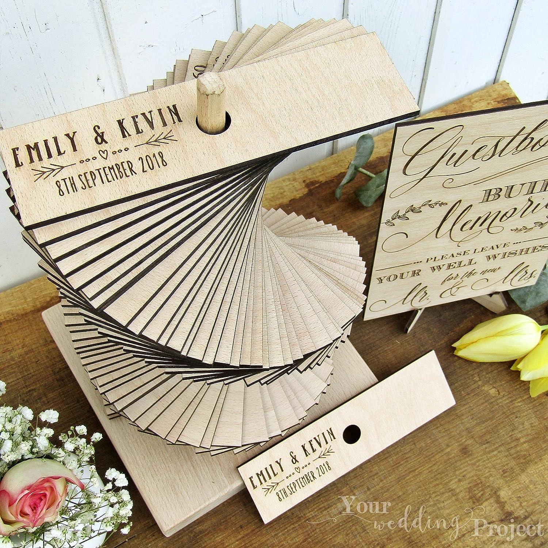 Amazon.com: Wedding Guest Book Alternative, Heart Wedding Guest Book ...