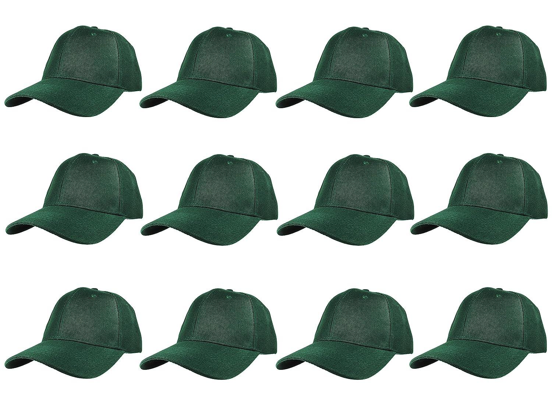 Gelante Plain Blank Baseball Caps Adjustable Back Strap Wholesale LOT 12 PC'S 20-001-Black-12PC