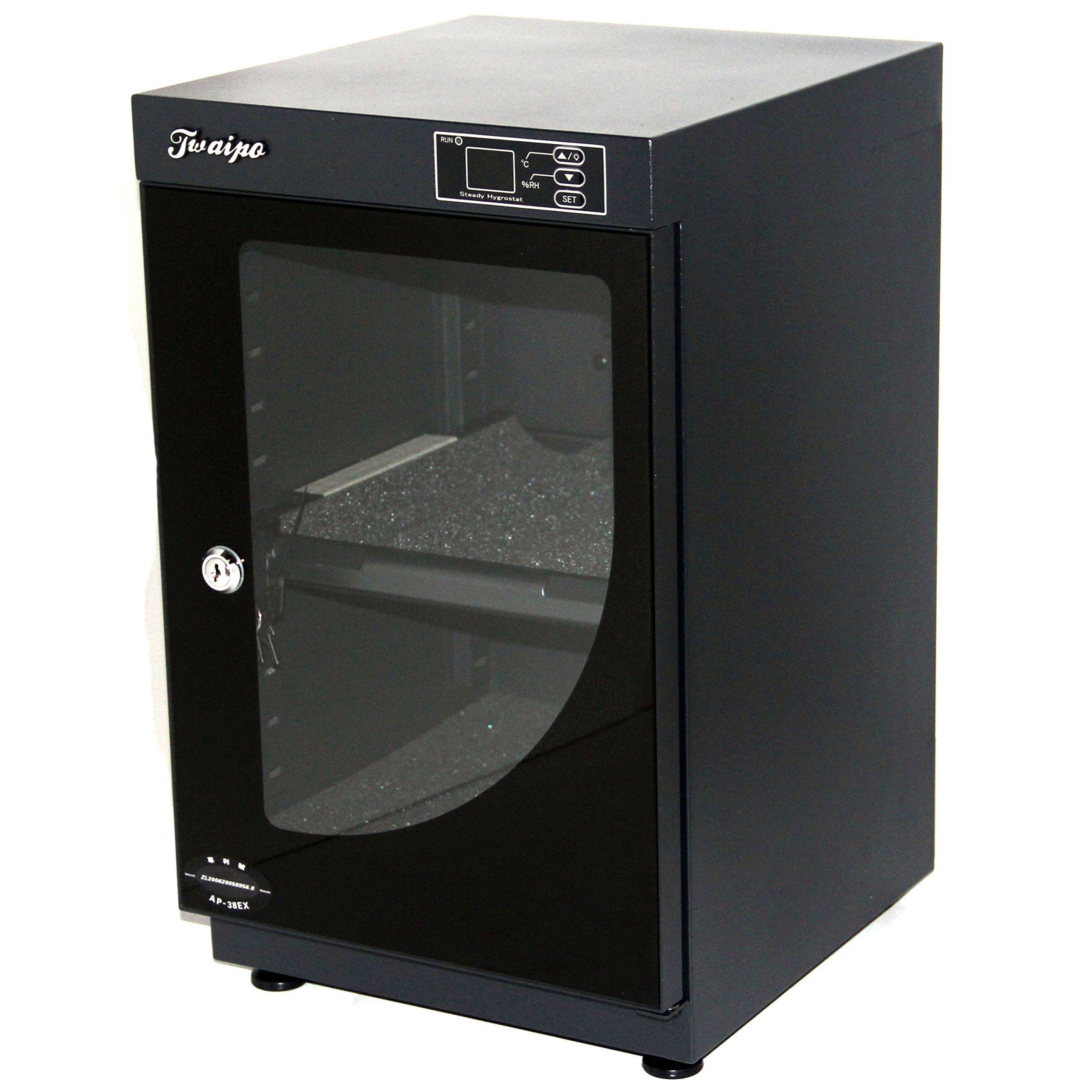 HFS (R) 38L Digital Dehumidify Dry Cabinet Box - 2 Shelf Camera & Lens Anti-Mold Storage by HFS