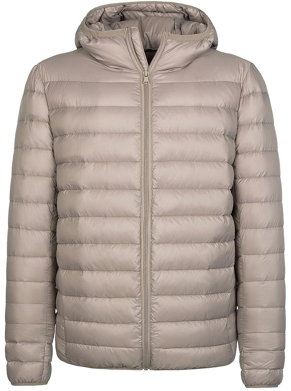 Wantdo Mens Hooded Packable Light Weight Down Puffer Jacket