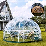 Patiolife Garden Dome 9.5ft - Geodesic Dome with PVC Cover - Bubble Tent with Door and Windows for Sunbubble, Backyard, Outdo