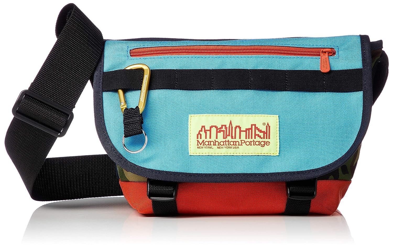 [マンハッタンポーテージ] メッセンジャーバッグ 公式 Coney Island Casual Messenger Bag JR B07QPZL27P ブルーカモフラージュ