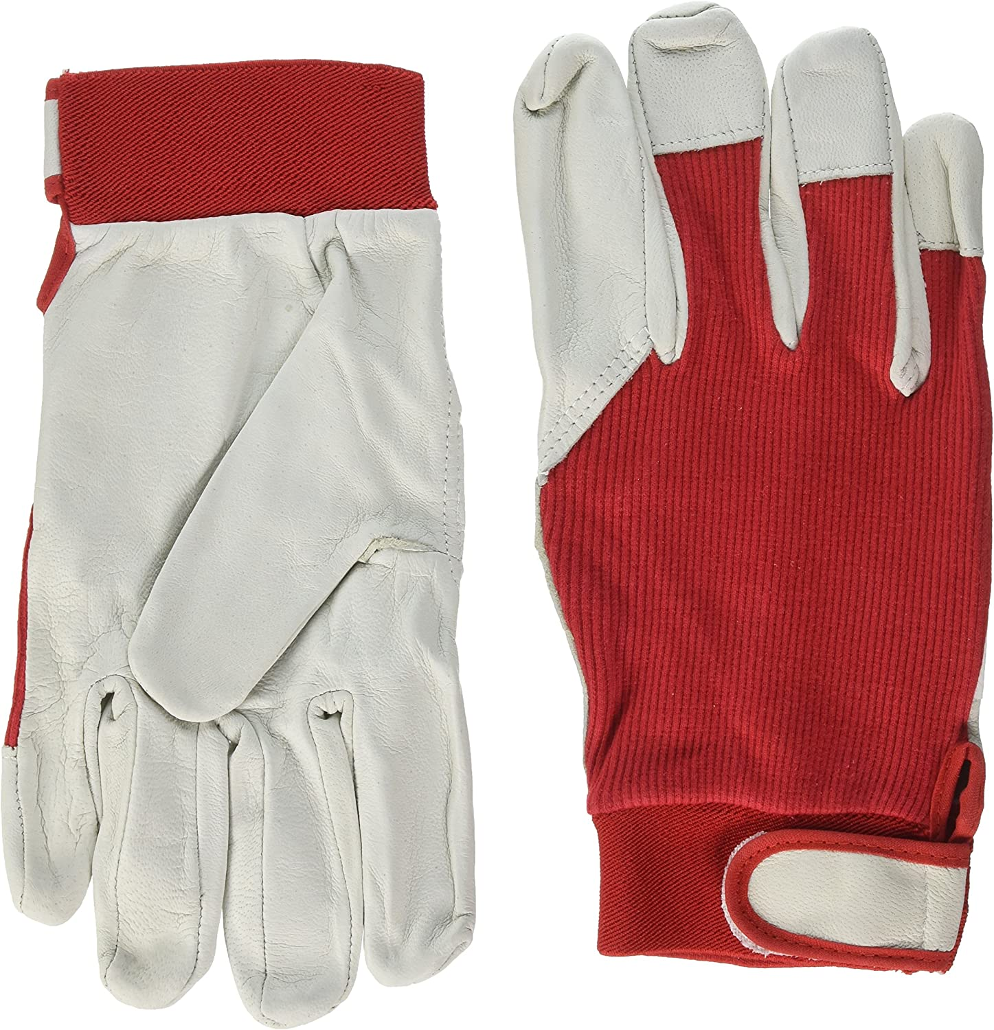 MCR Safety F21510 Batters Glove White Goat Palm Red Back