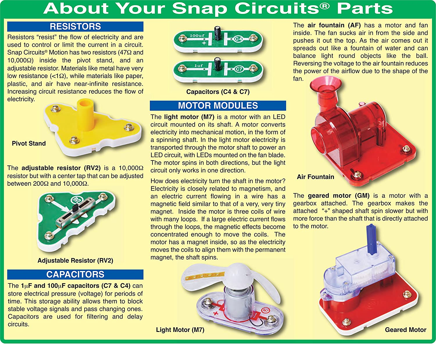 Elenco Snap Circuits Motion Kit Scm 165 Electronics Kits Amazon Introduction To The Electric Switch Using All Canada