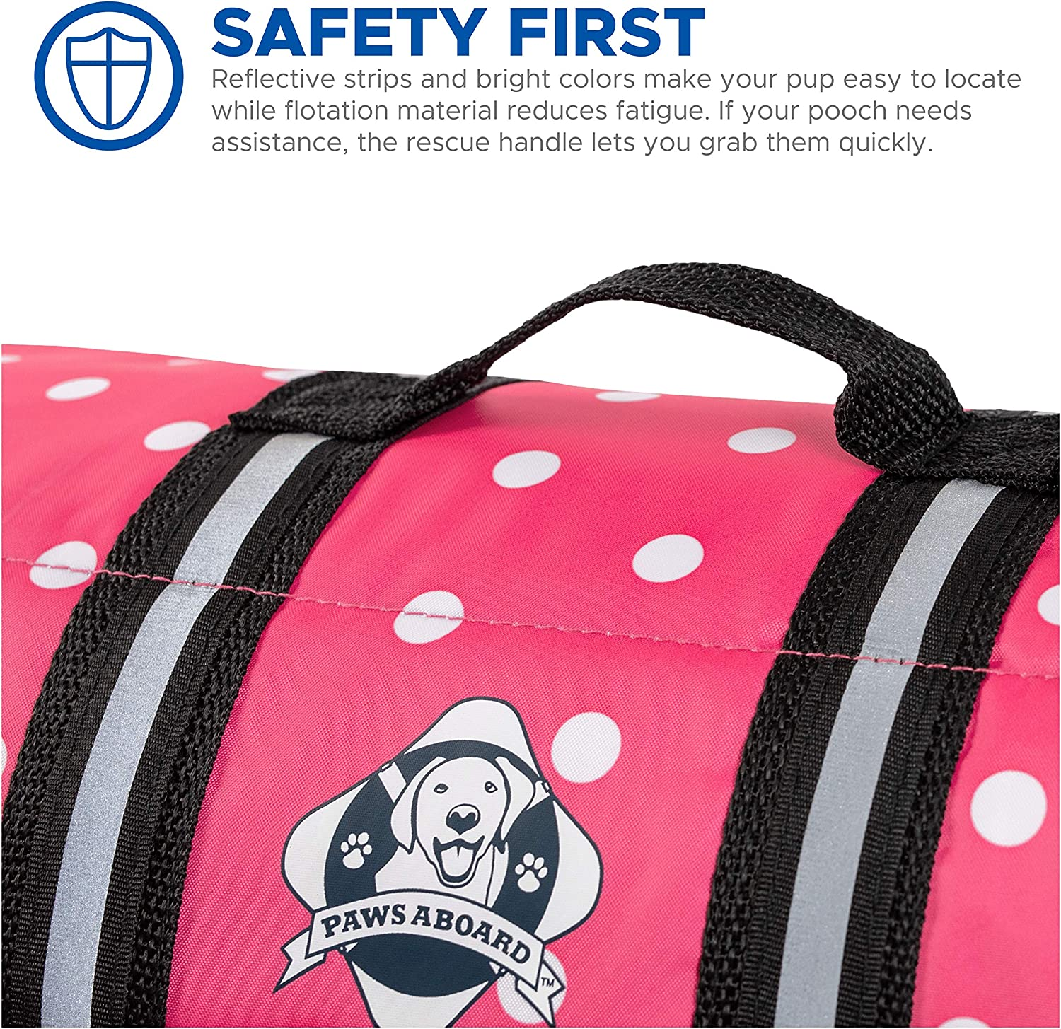 Paws Aboard Dog Life Jacket Vest for Swimming and Boating