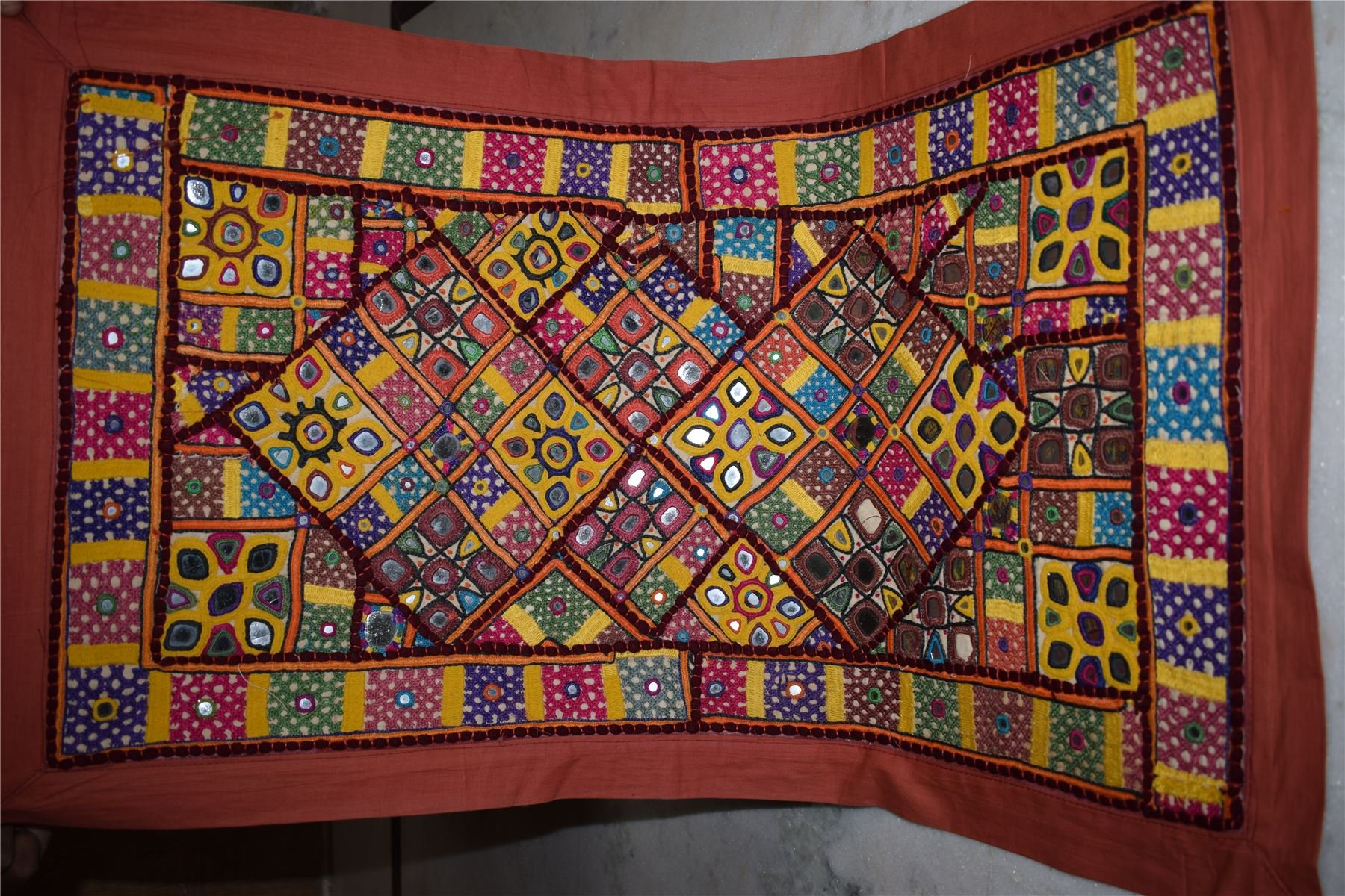 Wall Hanging Vintage Tapestry India Indian Patchwork Embroidered Ethnic 133