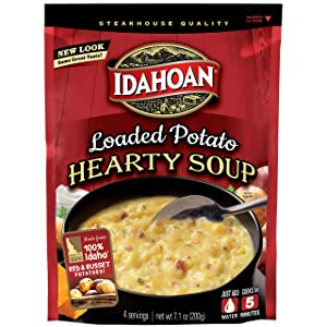 Idahoan Loaded Potato Hearty Soup, Made with Gluten-Free 100-Percent Real Idaho Potatoes, 7.1 oz Pouch (Pack of 8)