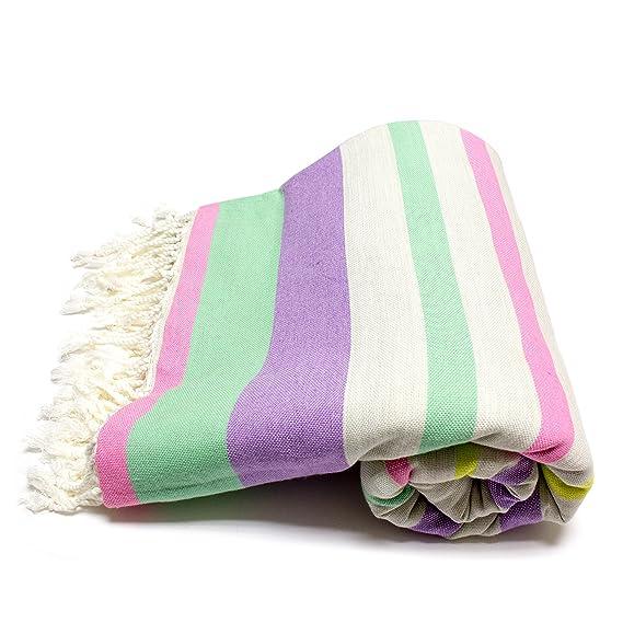 Fouta Couch - Colcha para cama sofá - Colcha para cama manta de día - 270 x 230 cm XXL Formato - PREMIUM CALIDAD - 100% algodón - Sofá de techo o ...