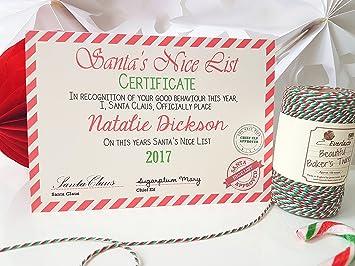Personalised santa letter santa nice list certificate amazon personalised santa letter santa nice list certificate spiritdancerdesigns Gallery