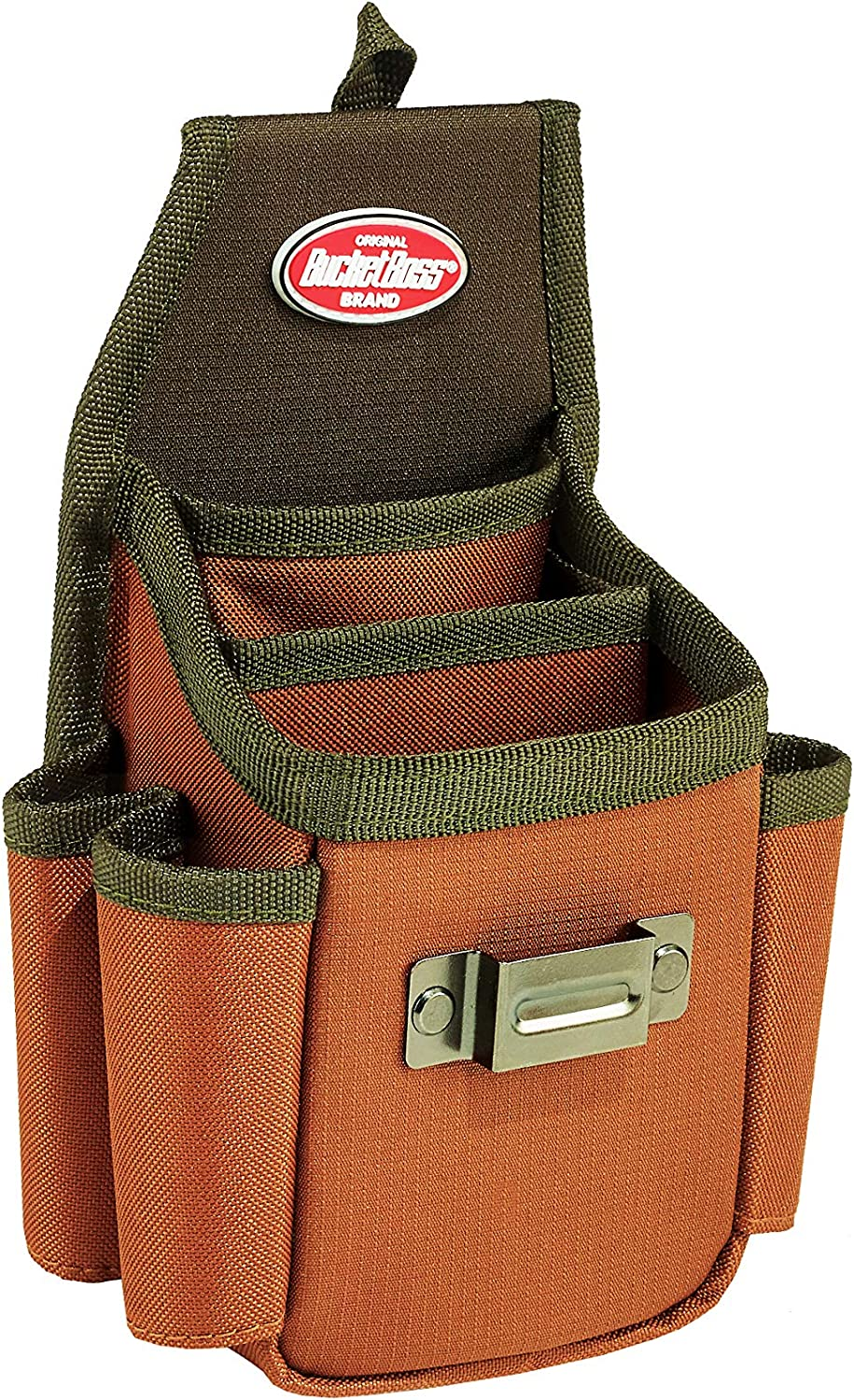 54140 Bucket Boss Tool Pouch with FlapFit in Brown