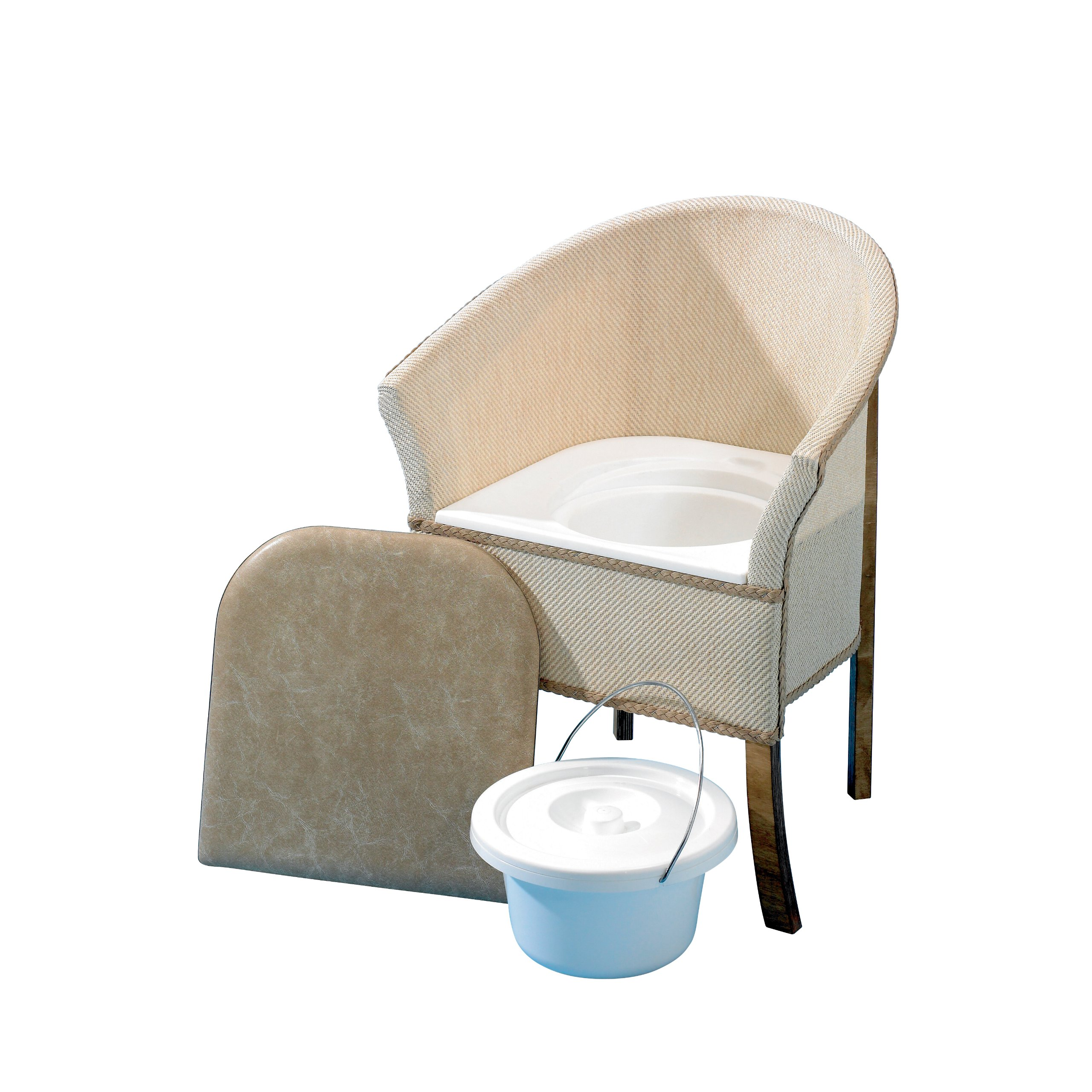 Homecraft Bedroom Commode, Bedroom Toilet Chair with Built In Commode Seat, Convenient Bathroom Access, Ergonomic Shape for Comfort