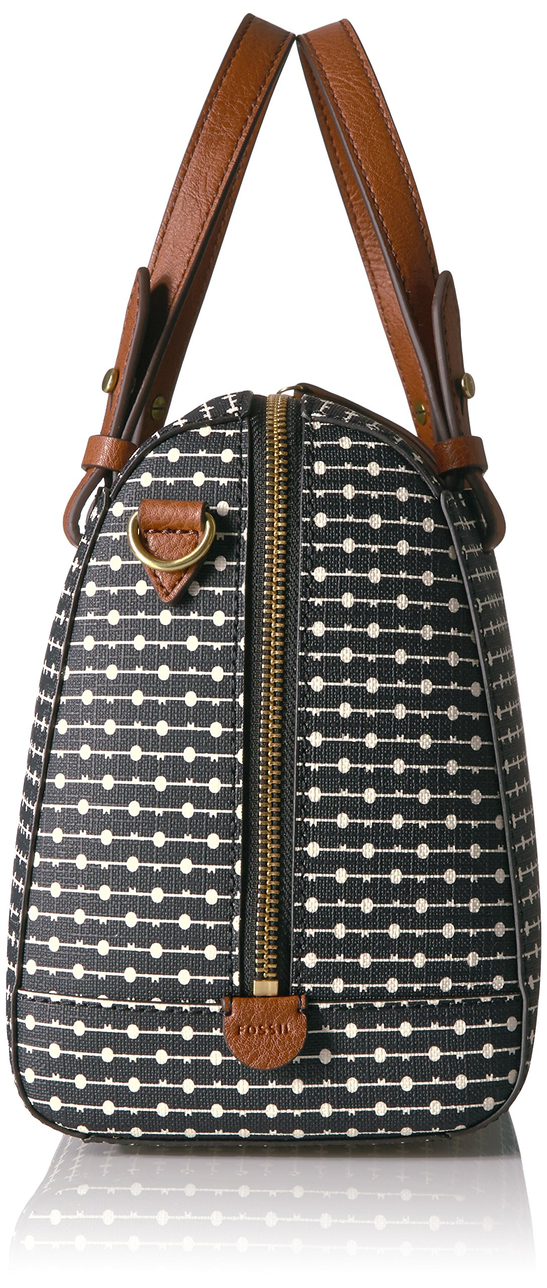Fossil Rachel Satchel Handbag, Black Dot by Fossil (Image #3)