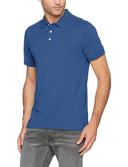 Hilfiger Denim Men's TJM Basic S/S 1 Polo Shirt, Blue (True Navy