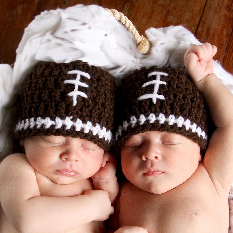 2f51f9a6e Melondipity Boys Football Crochet Baby Hat Quality Beanie Newborn Infant  Toddler