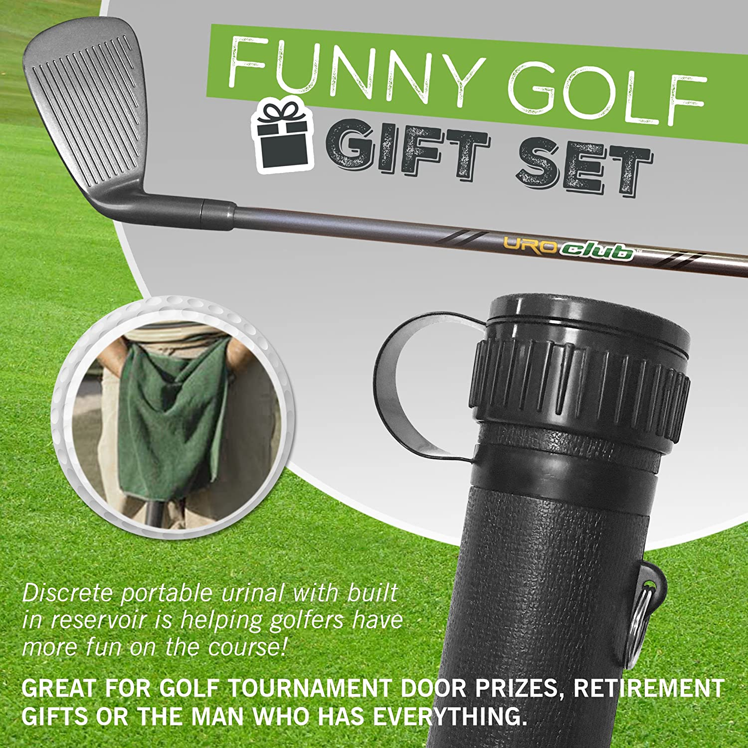 Amazon.com : Uroclub Portable Urinal Funny Gag Gift For Men | Guaranteed To Keep You Out Of The Woods | Golf Novelty Gifts : Sports & Outdoors