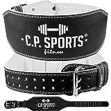 C.P.Sports Gewichthebergürtel Leder extra breit T4-1 Ideal für Bodybuilding, Fitness u. Krafttraining- Power-Belt