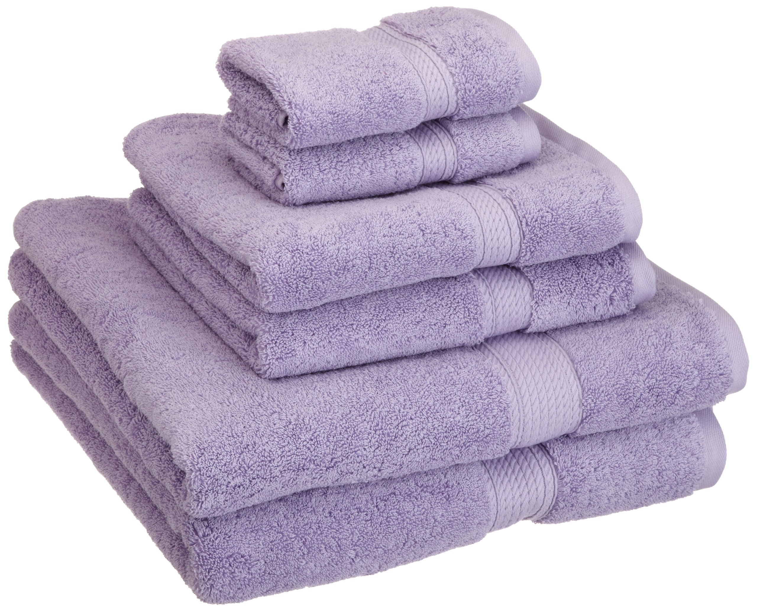 Superior 900 GSM Luxury Bathroom 6-Piece Towel Set, Made of 100% Premium Long-Staple Combed Cotton, 2 Hotel & Spa Quality Washcloths, 2 Hand Towels, and 2 Bath Towels - Purple by Superior