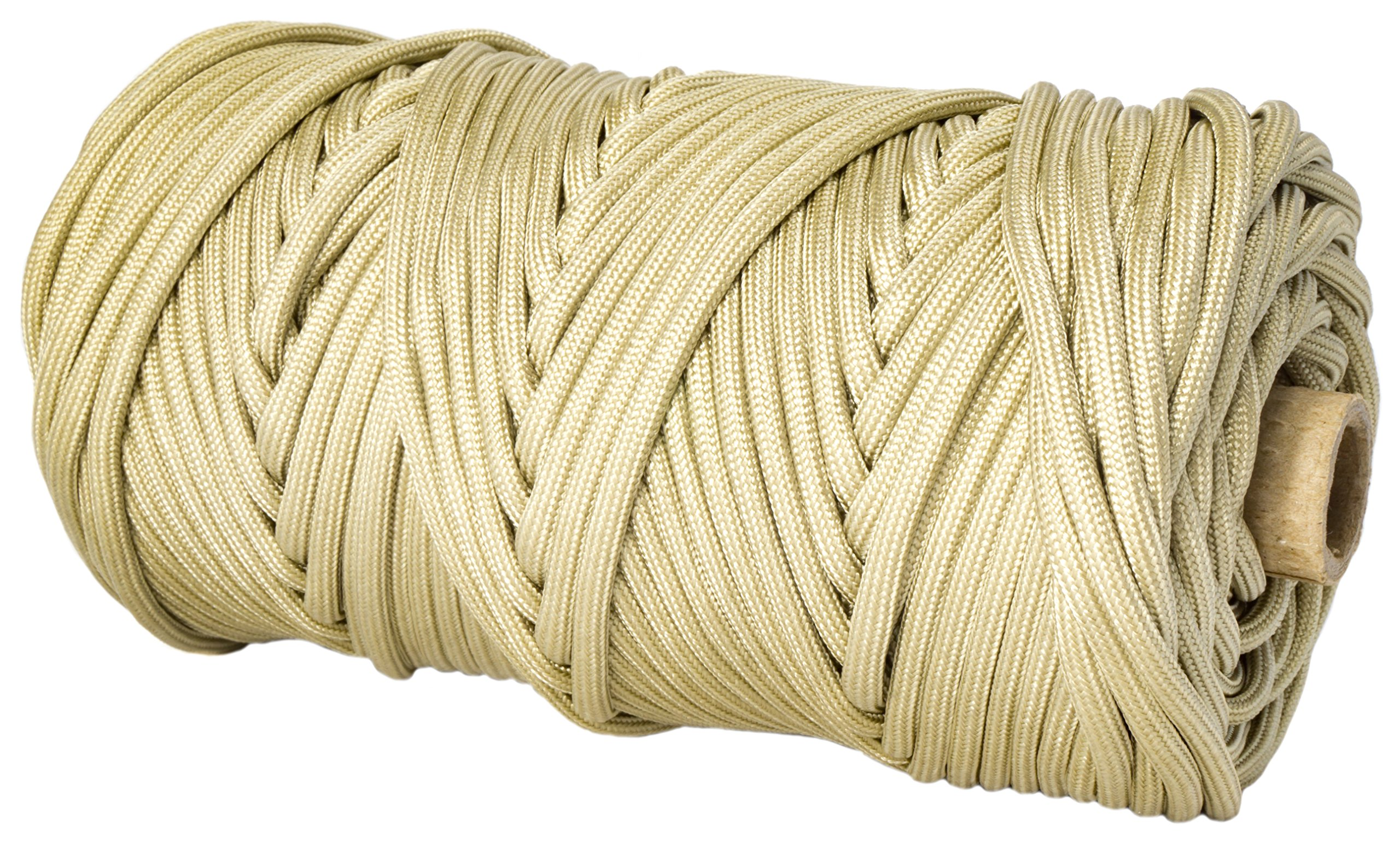 TOUGH-GRID 550lb Buckskin Paracord/Parachute Cord - 100% Nylon Genuine Mil-Spec Type III Paracord Used by The US Military - Great for Bracelets and Lanyards - Made in The USA. 500Ft. - Buckskin by TOUGH-GRID (Image #1)