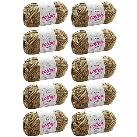 Myoma Baumwollgarn Hakeln 10x Cotton Pure Sandstein Fb 0221