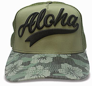 Amazon.com  Island Caps Hawaiian Inspired Baseball Hats (Aloha Camo ... f5dbd789b5f