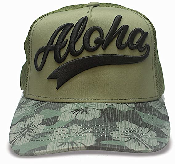 Amazon.com  Island Caps Hawaiian Inspired Baseball Hats (Aloha Camo ... ab07420bc8ac