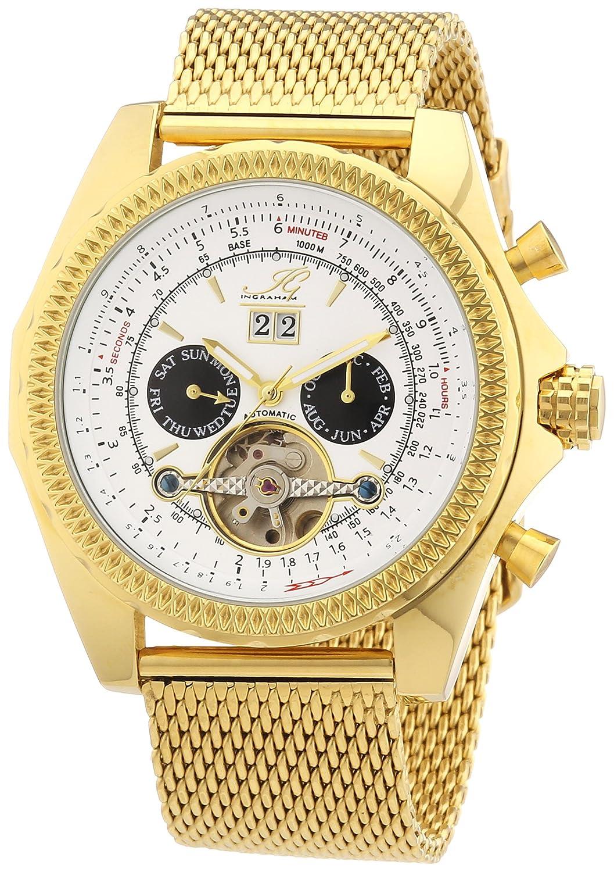 Ingraham Herren-Armbanduhr XL Pescara Analog Automatik Edelstahl beschichtet IG PESC.1.222203