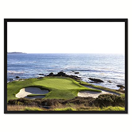 Amazon.com: SpotColorArt Pebble Beach Golf Course Photo Canvas Print ...