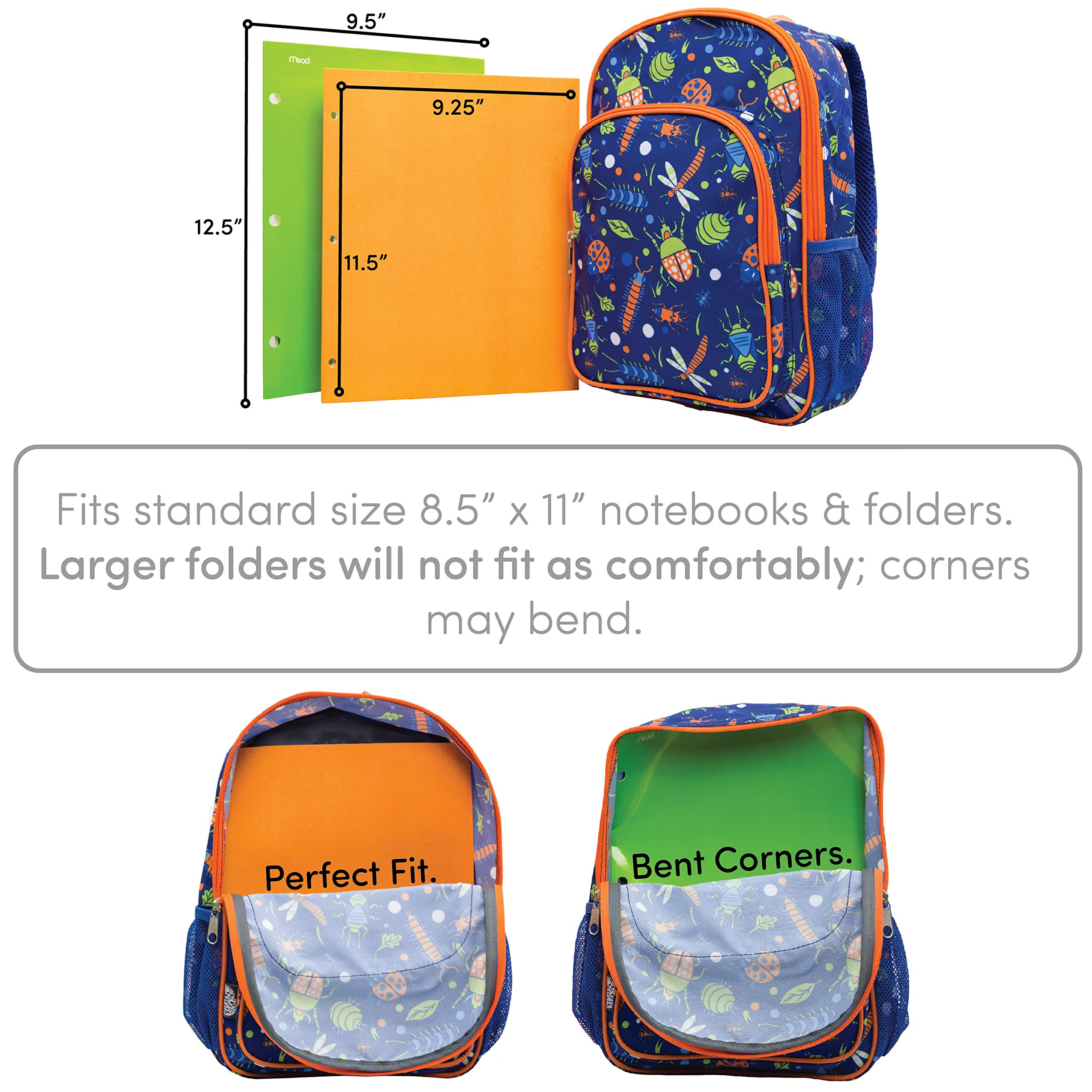 LONECONE Kids' Canvas Preschool Backpack - Integrated Tablet Sleeve, School of Fish by LONECONE (Image #5)