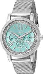 XOXO Womens Stainless Steel Analog-Quartz Watch with Alloy Strap, Silver, 17 (