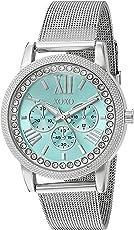 XOXO de la mujer aleación de metal y de cuarzo reloj, color: plateado (modelo: xo5899)