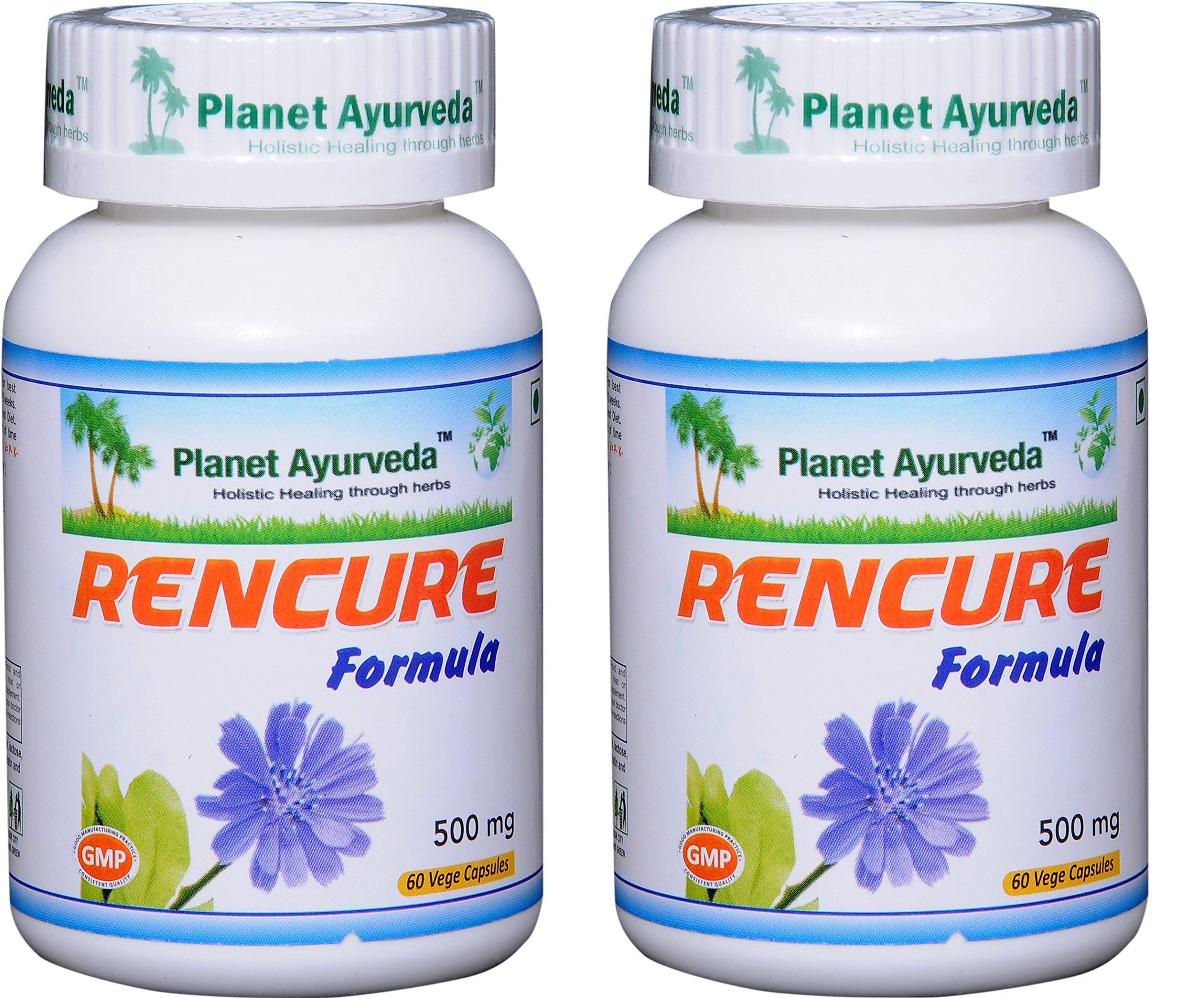 Planet Ayurveda Rencure Formula, 500mg Veg Capsules - 2 Bottles