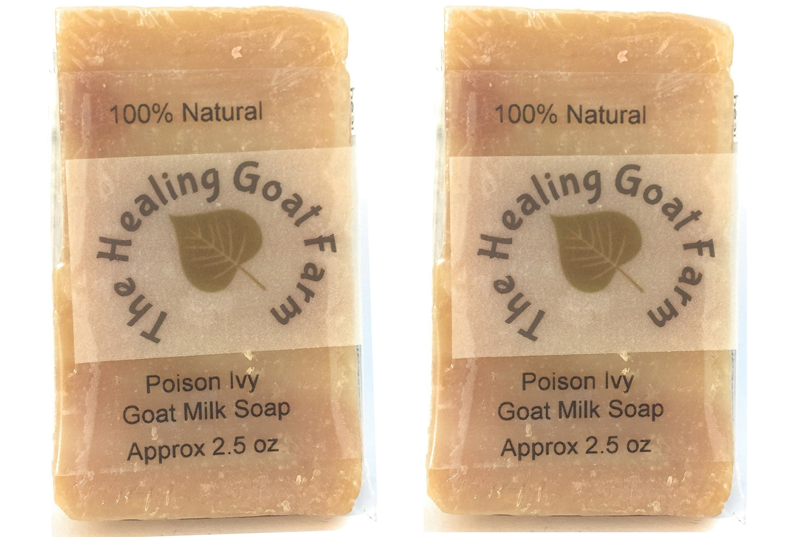 Poison Ivy or Oak Soap Treatment: Itch Relief with Jewelweed, Prevents Spreading, and Moisturizes Your Skin with Goat Milk (2 Half Bars)