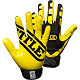 Battle Ultra-Stick Football Gloves – Ultra-Tack Sticky Palm Receivers Gloves – Pro-Style Receiver Gloves