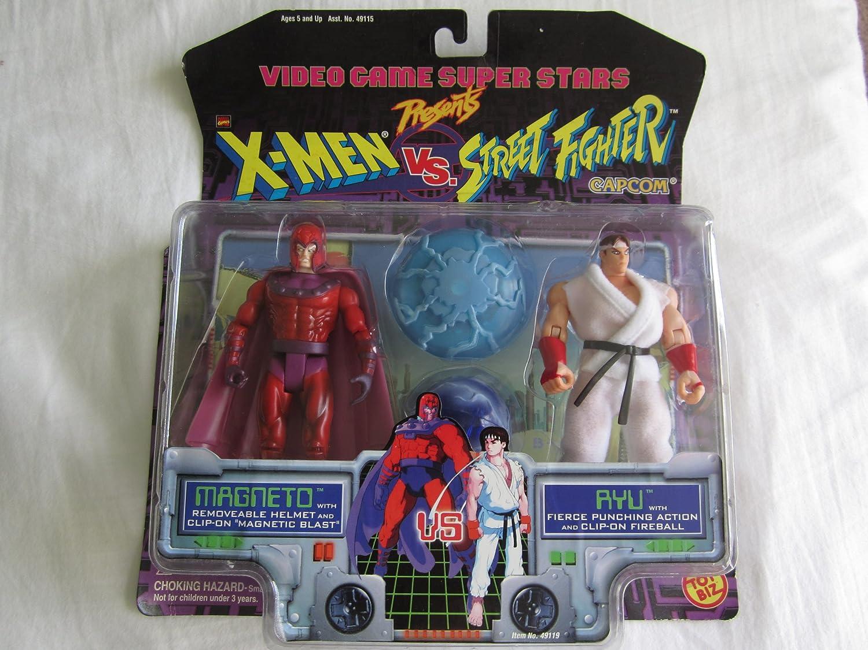 Amazon Com Video Game Super Stars Presents X Men Vs Street Fighter Capcom Magneto Vs Ryu Toys Games