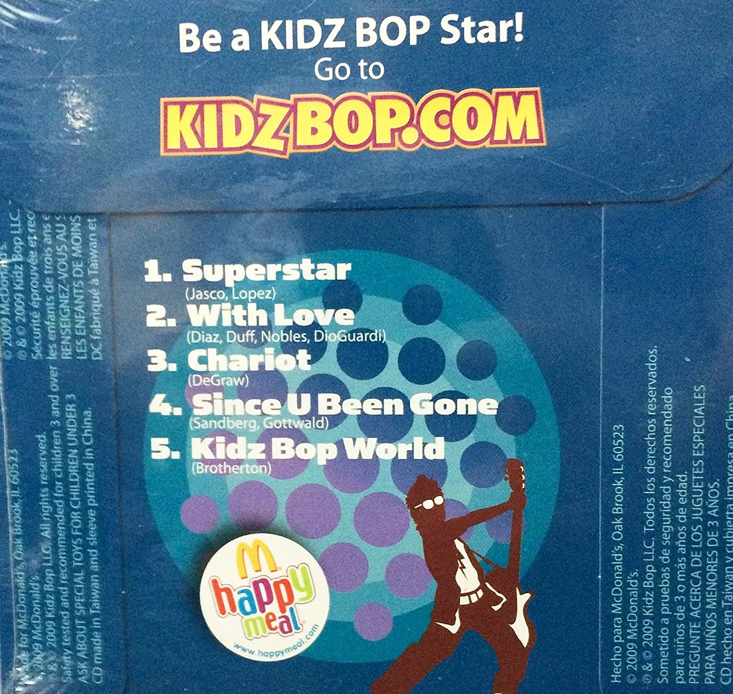 Amazon.com: Mcdonald´s Happy Meal 2009 Kidz Bop Audio CD #2: Toys & Games