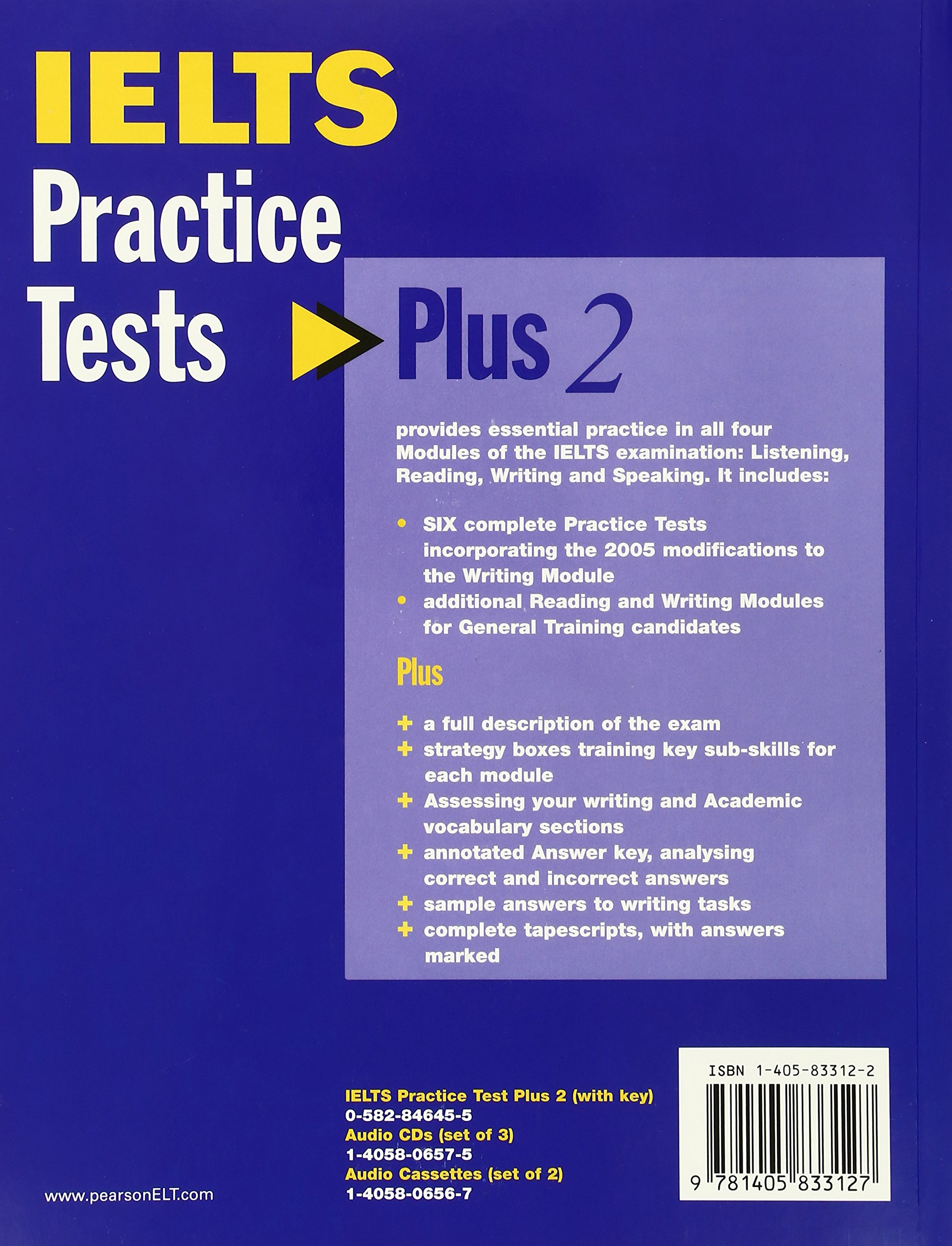 Buy ielts practice tests plus 2 with key and cd pack book online at low prices in india ielts practice tests plus 2 with key and cd pack reviews ratings