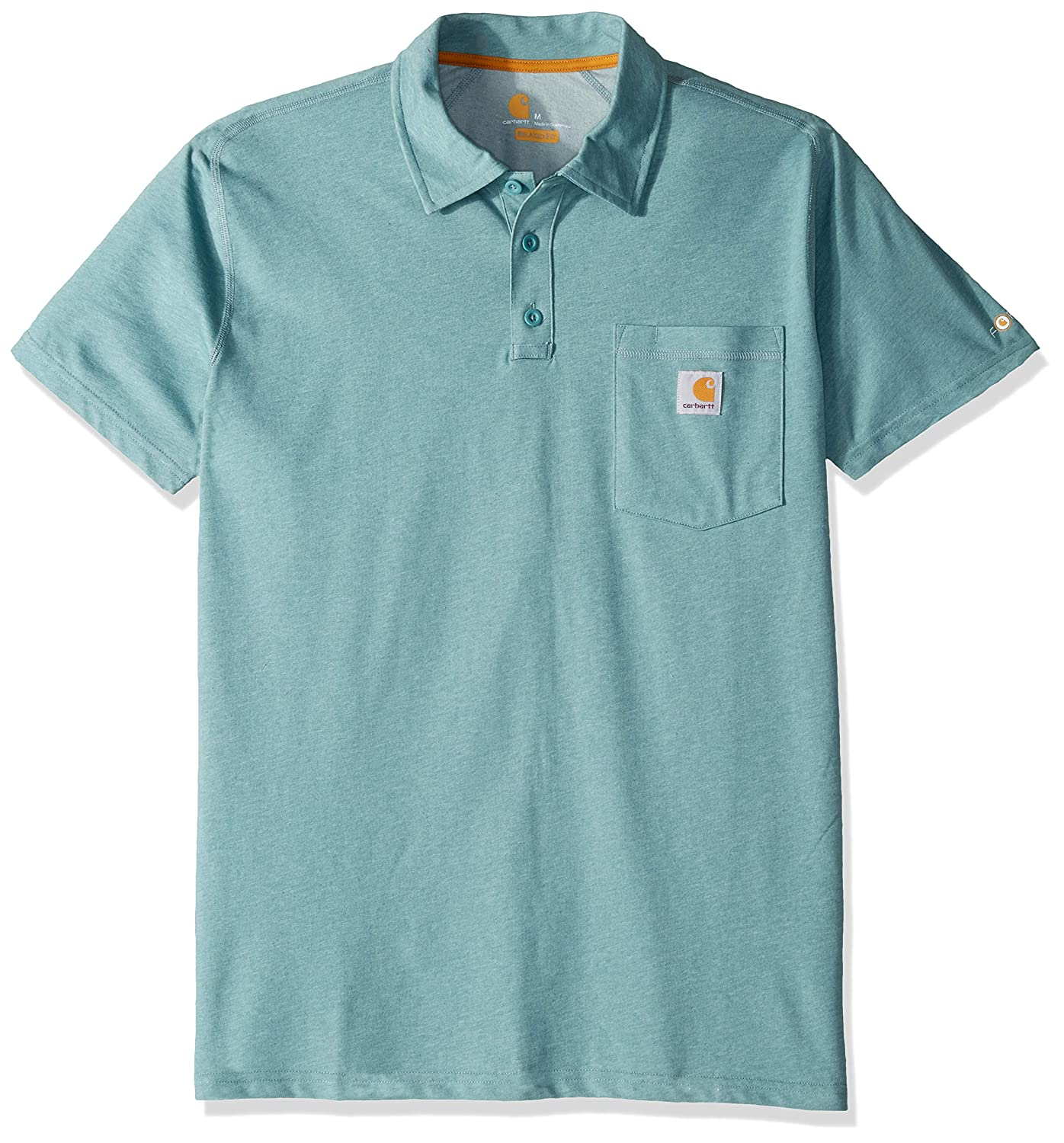 Carhartt Men Polo Shirt Force Cotton Delmont Pocket