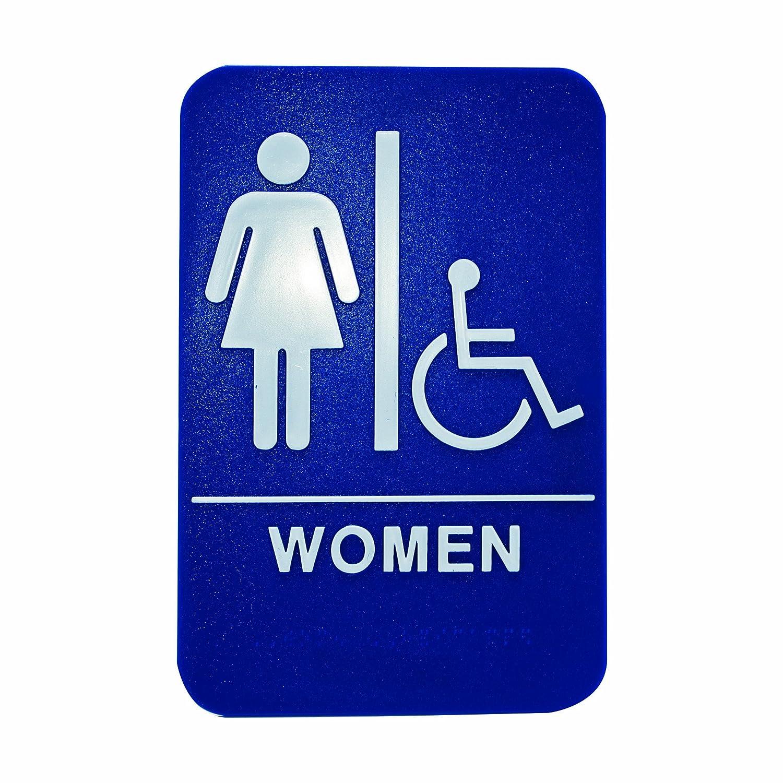 sign bathroom picture printablewomen on girls rre s restroom women white signs rule blue womens whtonblu clipart printable