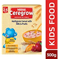 Nestlé CEREGROWFortified Multigrain Cereal with Milk and Fruits, 300g Bag-In-Box Pack
