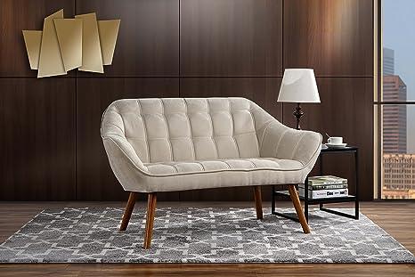 Amazon.com: Sofá sala de estar, tela de lino con asiento de ...