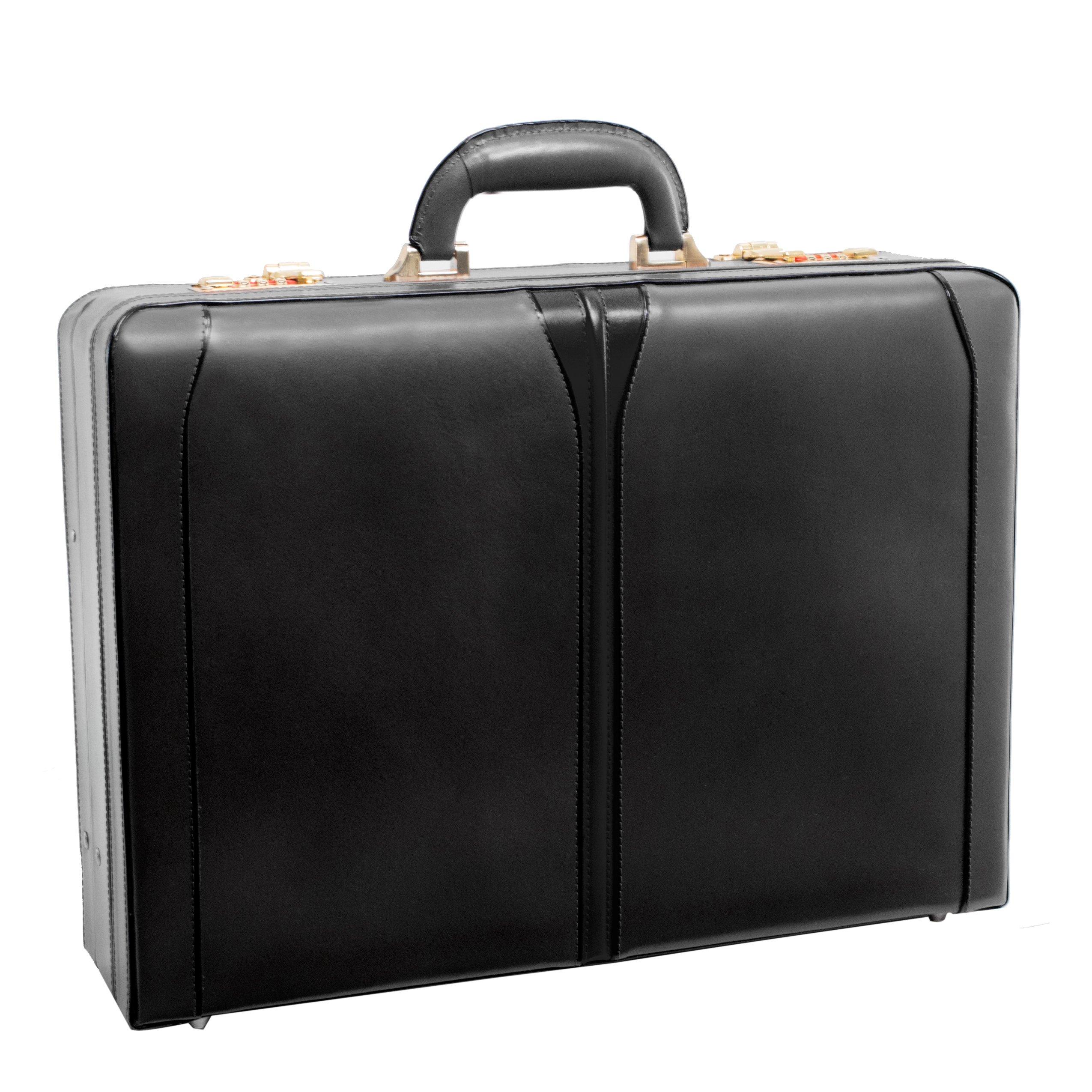 McKleinUSA TURNER 80485 Black Leather Expandable Attache Case