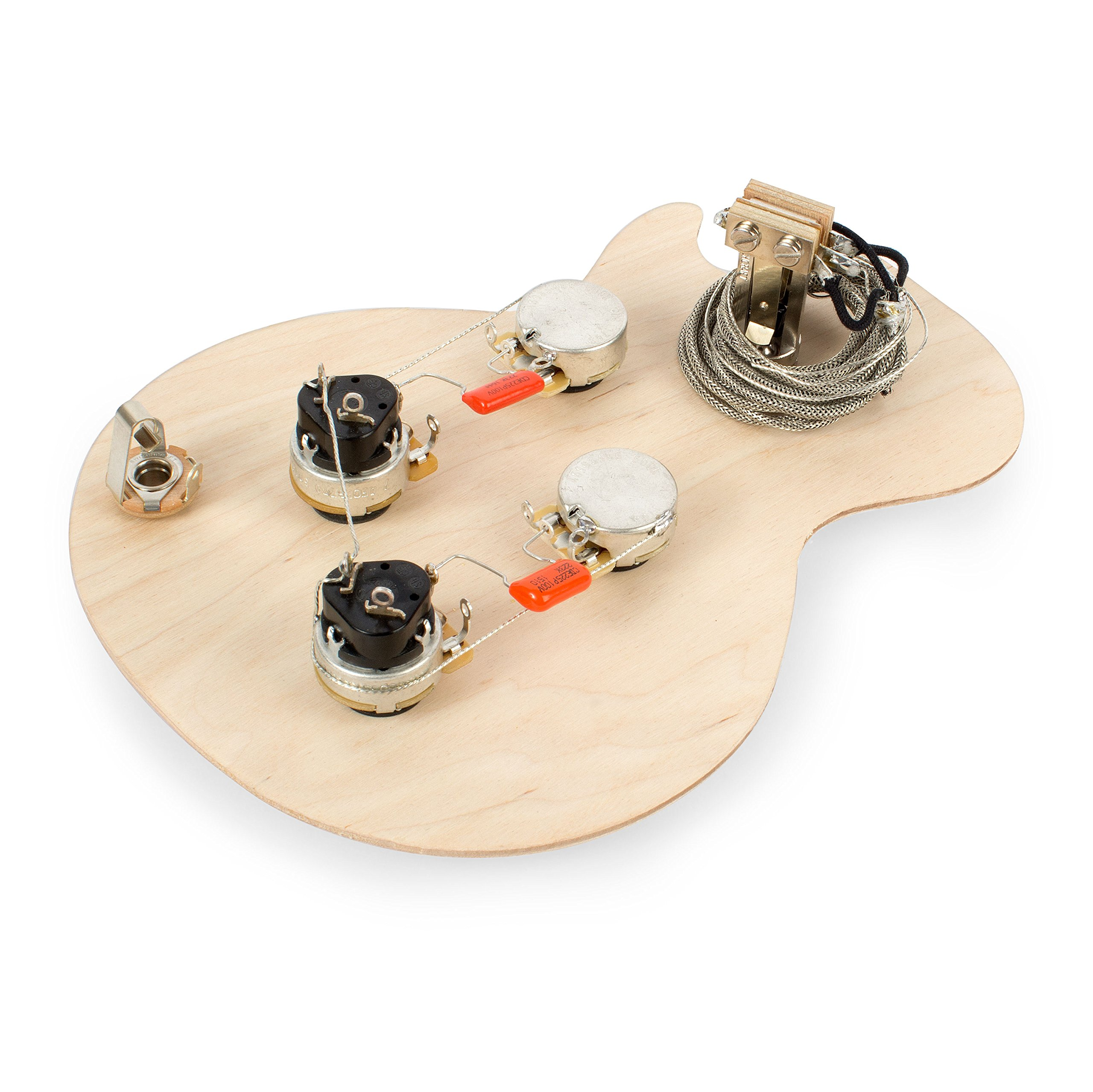 Golden Age Pre-wired Harness for Gibson Les Paul with Push-pull Pots, with  Long-shaft CTS Pots
