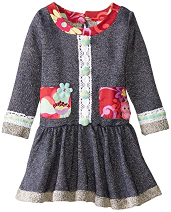 9ebe914cc37 Rare Editions Girls  Toddler French Terry Dress with Printed Pockets