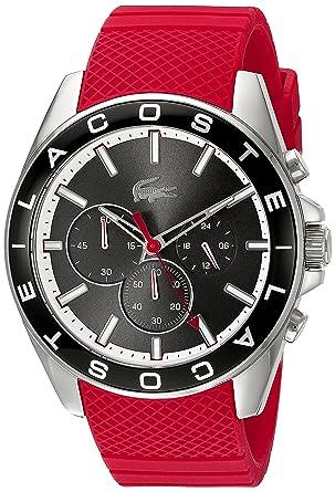 lacoste menu0027s westport analog display japanese quartz red watch