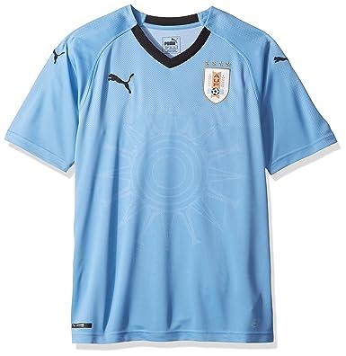 06004470109 PUMA Men's Uruguay Replica Jersey, Home Silver Lake Blue Black, S. Roll  over image to ...