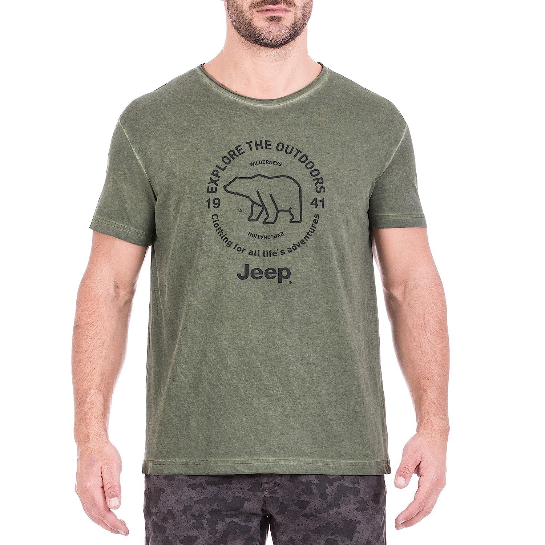Jeep Homme Effet Vintage Bear de Outdoors j8s T-Shirt