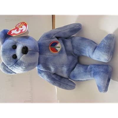Ty Beanie Babies - Peace the Bear - Tye Died - Retired: Toys & Games