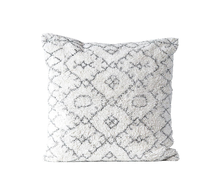 Amazon.com: Creative Coop - Cojín cuadrado de algodón negro ...
