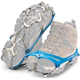 Yaktrax Ascent Traction Spikes for Backcountry Excursions on Snow and Ice, Blue, XX-Large (1 Pair)